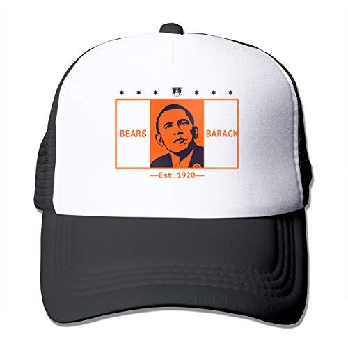 Bears Ball American Flag President 2008 2012 Trucker Hats Fashion Funny Cap Black
