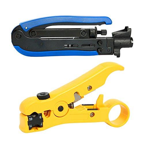 YaeTek RG59 RG6 RG11 Compression Tool Coax Coaxial Cable