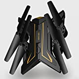 Gbell Camera RC Quadcopter Drone - Gesture Control 6Axis 0.3MP HD WiFi FPV Selfie Foldable Aerial Vehicle Toy,Best Birthday Christmas New Year Gifts for Kids Adults, Gold Sliver (Gold)