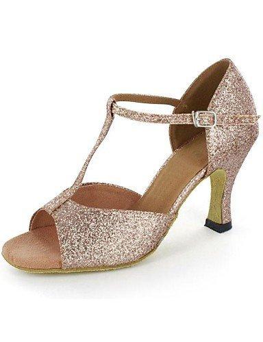 ShangYi sandales femmes latines mousseux paillettes talon aiguille Buckie chaussures de danse , gold-us5.5 / eu36 / uk3.5 / cn35 , gold-us5.5 / eu36 / uk3.5 / cn35