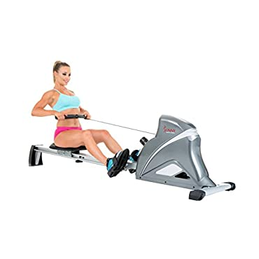 Sunny Health & Fitness SF-RW5508 Ultra Tension Magnetic Pro Rowing Machine w/ LCD Monitor