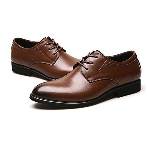 Casual Abbinare Morbido da Business Brown in Comfort Formale Pelle Leisure Abbigliamento Derma Uomo Moda Scarpe Scarpe 06qPFn