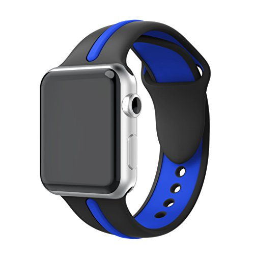 YASPARK Apple Watch Band 38mm/42mm, 40mm/44mm,Soft Silicone Strap Adjustable Replacement iWatch Bands for Apple Watch Sport,Series 4 Series 3, Series 2, Series 1 (Large Size)