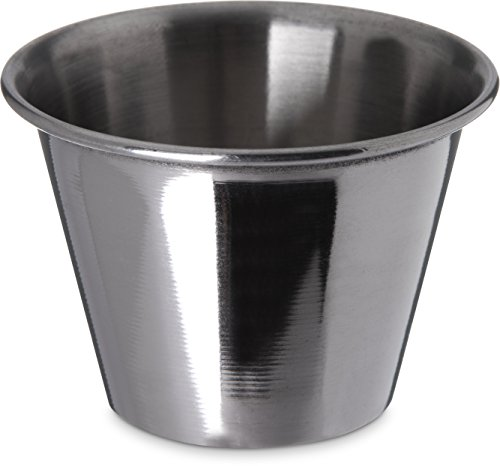 Carlisle 602500 Ramekin Dipping Sauce Cup, 2.5 oz., Stainless Steel (Pack of 12)