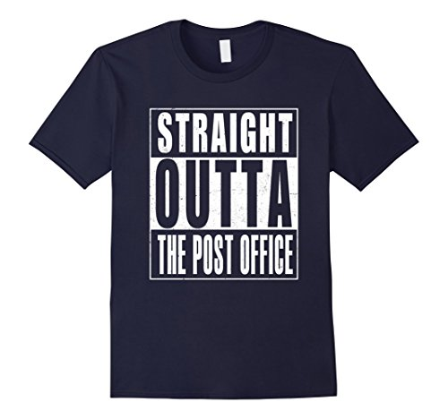 Mens Straight Outta The Post Office T Shirt Us Postal Service Medium Navy