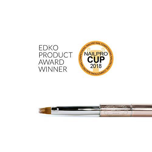 EDKO Ombre Nº8 Gel Brush Professional Nail Tips Builder UV/LED Painting Pen w/Body Cap - Size 8