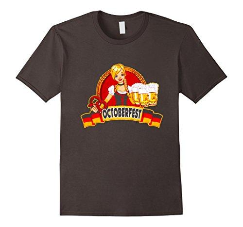 Mens Oktoberfest German Beer Garden Girl Shirt -Men Women T Shirt Large Asphalt