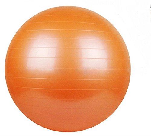 Zebratown 65cm Orange Glossy Health & Fitness Anti-Burst Gym Ball