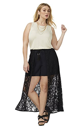 Lane Bryant Women's Short with Lace Overlay 22/24 Black from Lane Bryant