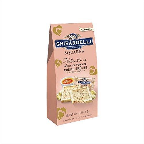 (Ghirardelli Valentine's Crème Brulee Squares Bag - 4.5oz)