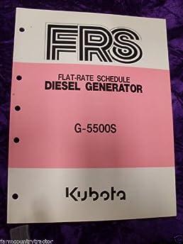 kubota g5500s generator flat rate schedule manual kubota g5500s rh amazon com Kubota RV Diesel Generator Super Quiet Diesel Generators Portable