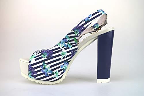 Femme Mari Textile Lorenzo Escarpins Bleu x6fqwPXw4