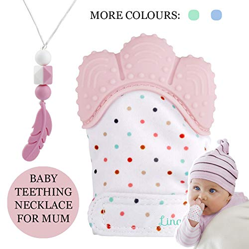 KEFU Teething Necklace for Mum Breastfeeding and Baby Wearing Nursing Jewellery BPA Free Silicone Baby Teething Necklace White-Peachy-Pink-Grey-Marble-Mint Green