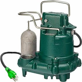 Sump Basement Pump Backup - Zoeller M63 PREMIUM SERIES 5 Year Warranty Mighty-mate Submersible Sump Pump, 1/3 Hp by Zoeller …