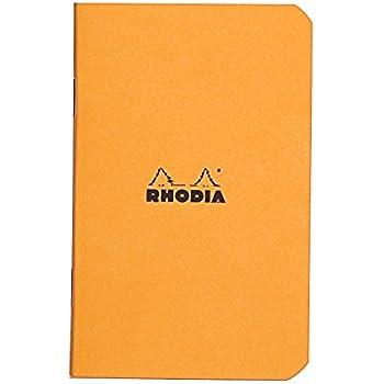 Rhodia Staplebound Orange Graph Notebook 3 X 4 ¾