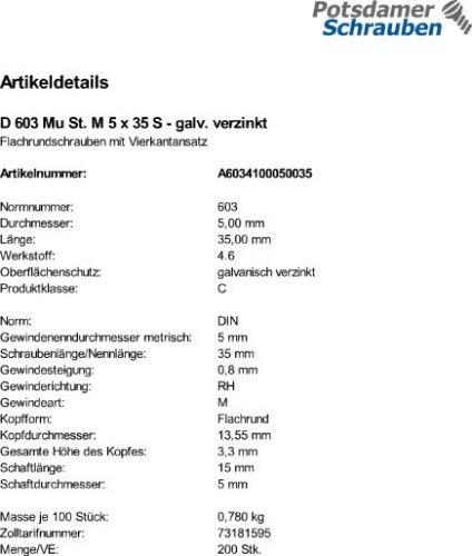 25 Schlo/ßschrauben Mutter DIN 603 verzinkt M12x160