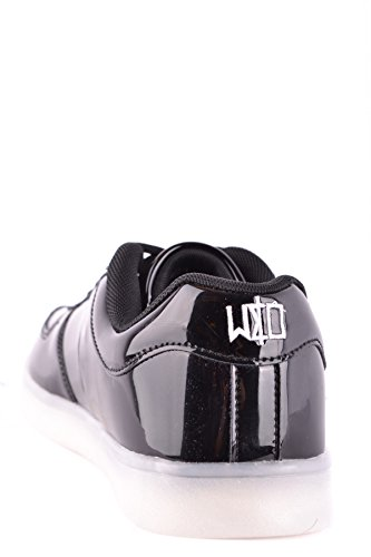 wize & ope Herren MCBI475003O Schwarz Lackleder Sneakers