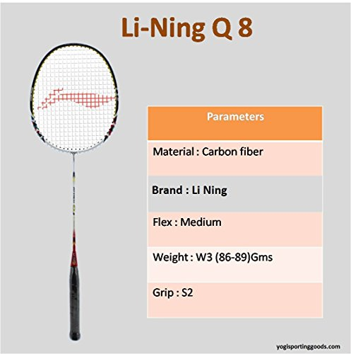 Li-Ning Badminton Racquet Smash Series With Cover Pack of 2 with Extra Grip (Q (8))