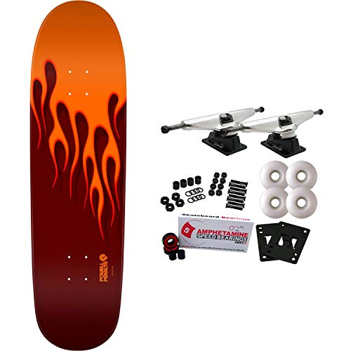 Powell-Peralta Skateboard Complete Hot Rod Flames Orange/Red 9.375