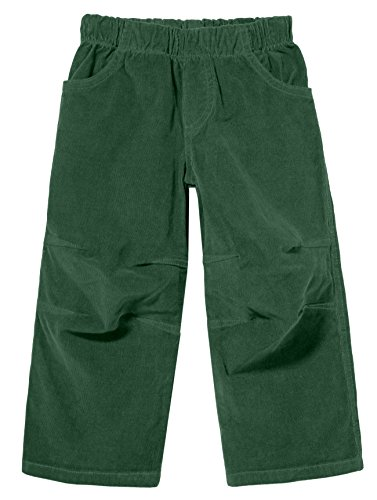 City Threads Boys' Corduroy Pull-Up Pants for School or Play; Comfortable for Active Children in for Sensitive Skin or Sensory Disorder - Forest Green - 6