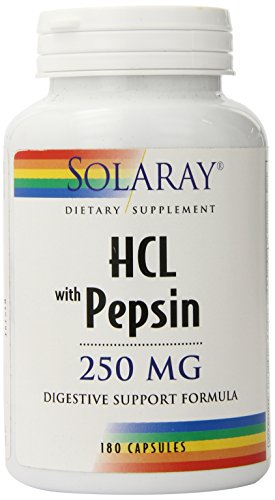 (Solaray - HCl with Pepsin - 250 mg - 180 capsules)