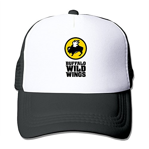 black-hglenice-buffalo-wild-wings-unisex-adjustable-baseball-trucker-hat-one-size