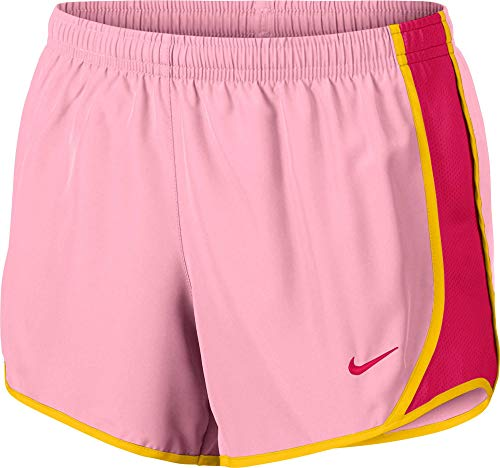 Nike Girl's Dry Tempo Running Shorts (Pink, Large)