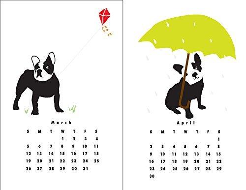2018 French Bulldog Wall Calendar