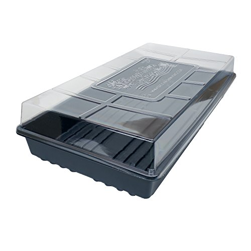 10 Humidity Domes & 10 1020 Plant Growing Trays Kit - New Heavier Trays - Made in the USA - Sturdy, Reusable, Recyclable for Organic Seed Starting, Microgreens, Wheatgrass by Second Sun Hydroponics