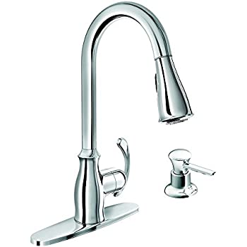 Moen 87910 Pullout Spray High Arc Kitchen Faucet With Soap