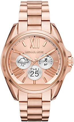 Michael Kors Access, Womens Smartwatch, Bradshaw Rose Gold-Tone Stainless Steel, MKT5004