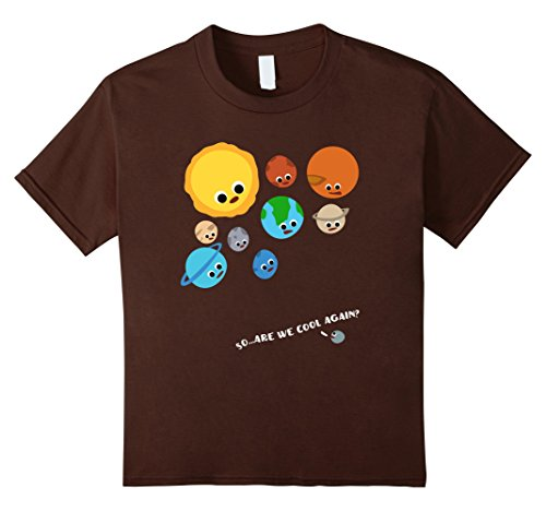 Kids Funny Pluto versus Solar System Planets T-Shirt 6 (Dwarf Youth T-shirt)