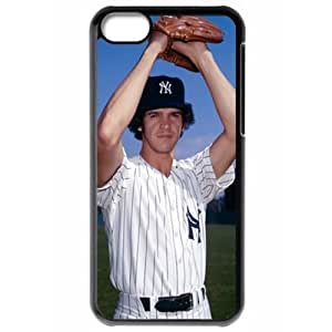 MLB Iphone 5C Black New York Yankees cell phone cases&Gift Holiday&Christmas Gifts NBGH6C9126442