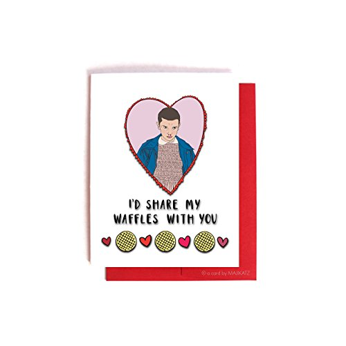 Stranger Things Eleven Waffles Card