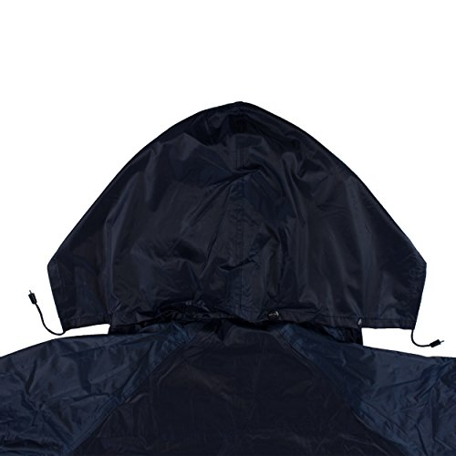 RK Safety RC-PP-NVY44 Navy PVC Polyester Trench Rain Long Coat With Hoodie(Navy, 2XL) by RK Safety (Image #2)