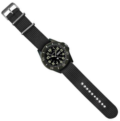 Dakota Watch Company Military Dial ION Wrist Watch, Black (Dakota Knife Watch Clip)