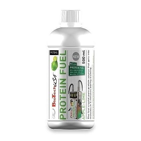 Biotech USA Protein Fuel, Liquid 500 Ml Proteínas Sabor Manzana y Lima - 500 ml: Amazon.es: Salud y cuidado personal