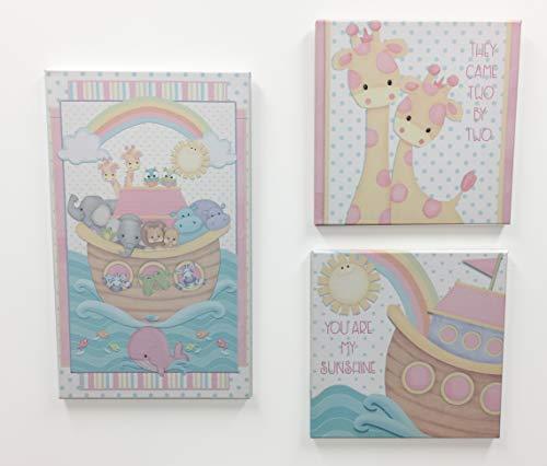 (Borders Unlimited Noah's Pastel Pairs Canvas Wall Art, Multi)