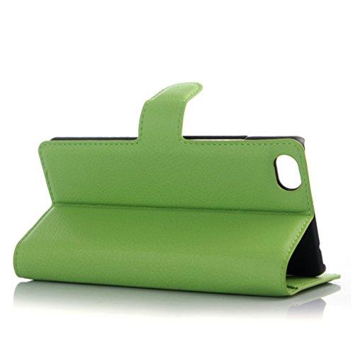 Funda ZTE Nubia Z9 mini,Manyip Caja del teléfono del cuero,Protector de Pantalla de Slim Case Estilo Billetera con Ranuras para Tarjetas, Soporte Plegable, Cierre Magnético G
