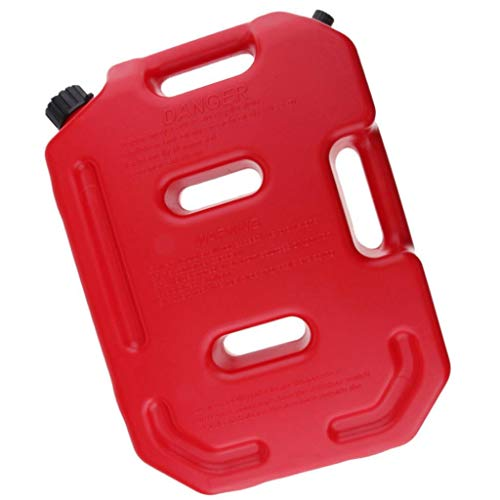 zzpopGG Car Motorcycle,Barrels of Gasoline,10L Portable Motorcycle ATV Spare Gasoline Petrol Oil Fuel Container Tank Jug