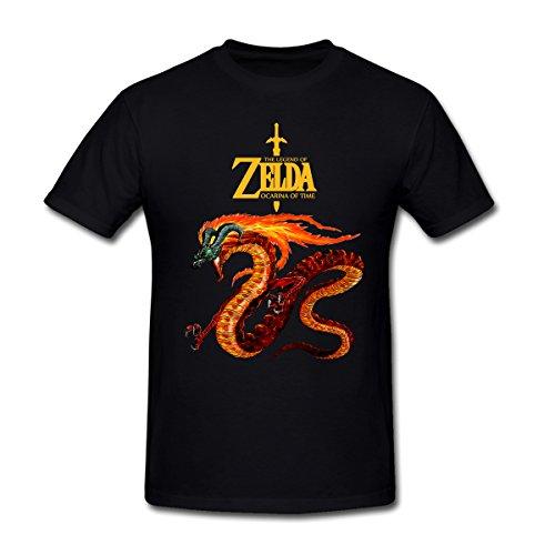 Ocarina of Time Link Ride a Horse The Legend of Zelda T-Shirt for Men L Black