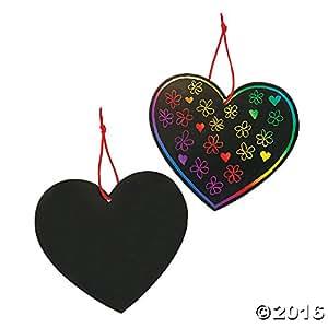 "Magic Color Scratch Hearts (24 Pieces) 5"" x 4 5/8"""