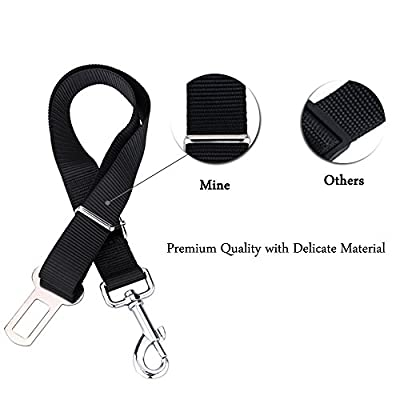 GOALANY Dog Seat Belt, 2-Pack Cat Seat Belt [Adjustable Seatbelts] Safety Leads Car Seat Belt Vehicle Harness For Dogs, Cats and Pets [Heavy Duty Nylon Fabric]