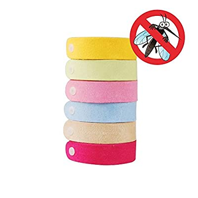 OUTXPRO 6 Pack Mosquito Repellent Bracelet - Micorfiber No Plastic DEET Free Adjustable Waterproof Wristband For Kids, Men and Women Repells Mosquitoes, Flies, Bed Bugs and More