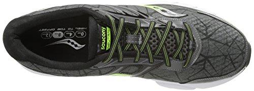 Saucony Mens Breakthru Running Shoe,Grey/Citron/Black,12 M US Grey/Citron/Black