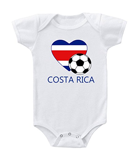 Costa Rican Soccer Costa Rica Football Infant Toddler Baby Bodysuit One Piece 18 - Costas Baby