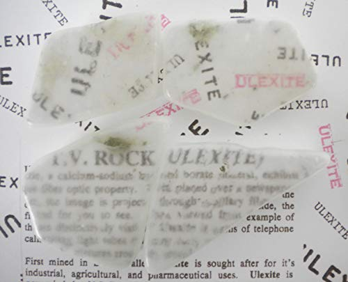 (Emovendo Ulexite - TV Rock - 4oz Lot - 3 to 5 Pieces - Boron Borax Crystal Stone - B)