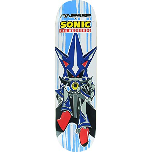 Finesse Sega Neo Sonic Hedgehog Skateboard Deck -8.0 Deck - Assembled AS Complete Skateboard