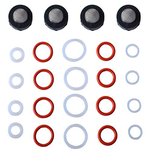 Gekufa Pressure Washer O-Ring & Inlet Filter Kit for Gun, Wand, Pump, Hose, and Lance 24 Pcs
