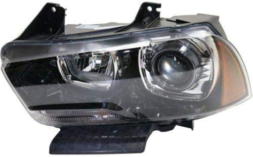 2011-2014 Dodge Charger Replacement Chrome Head Lamps Amber Park Turn Signal